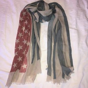 LOOK Accessories - LOOK | American Flag Scarf